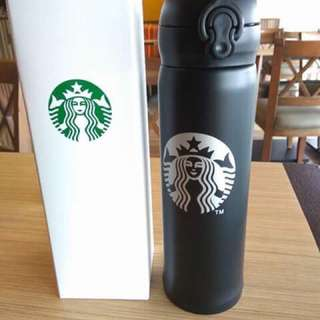 Starbucks black tumbler with lock