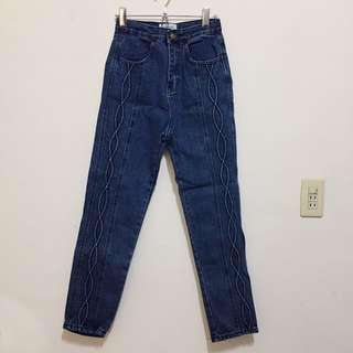 復古壓花牛仔褲#三百元牛仔