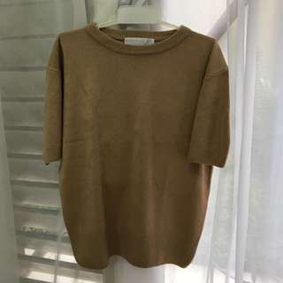Nude Brown Knitted Blouse