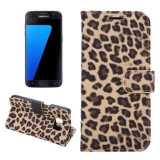 [BN] samsung s7 flip case / S7 flip cover / leopard print leather case / s7 casing