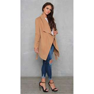 LILY WHYT Imperial Jacket Coat - Camel & Black