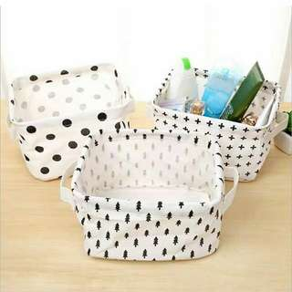 storage box white aneka motif