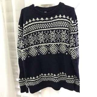 Dark Blue Eskimo Knitted Sweater