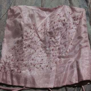 Pink Brides Maid Gown