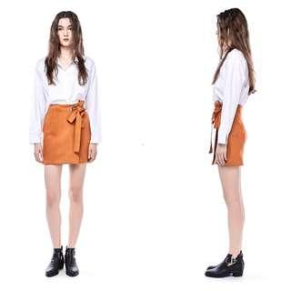 TEM Shantae Ring-Strap Suede Skirt XS