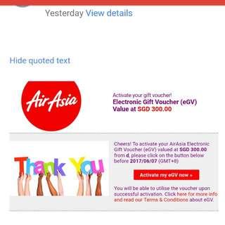 Airasia Flight Voucher Worth $300
