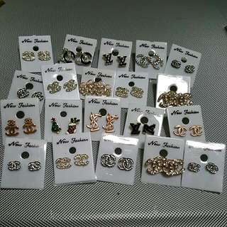 LV and Chanel earrings