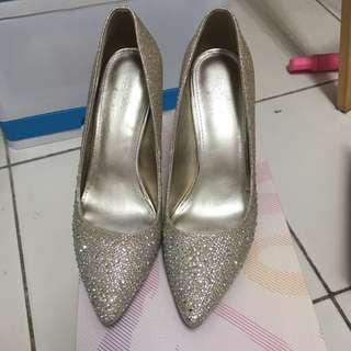 達芙妮 香檳金高跟鞋 婚鞋