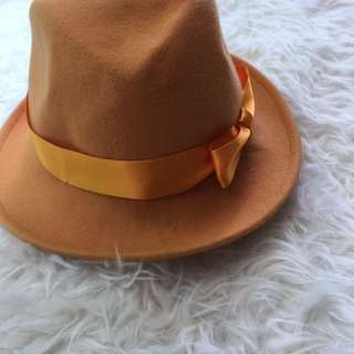 Helene Berman Mango Coloured Felt Hat