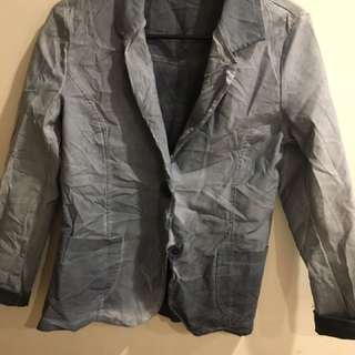 Blazer Jacket Grey Wash