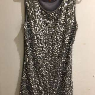 Silver/ Grey Sparkle Dress