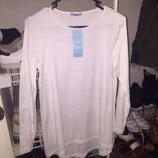 Kookai Long Sleeved White Top