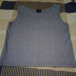 Gray Sando Croptop With Zipback
