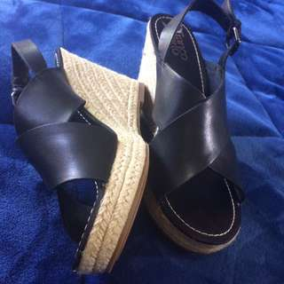 NEW Franco Sarto Leather Wedges