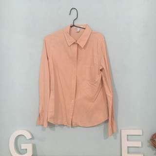 Peach Forever21 Shirt #bersihkanlemari