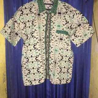 Baju Batik, Bahan Bagus, Murah, Size L