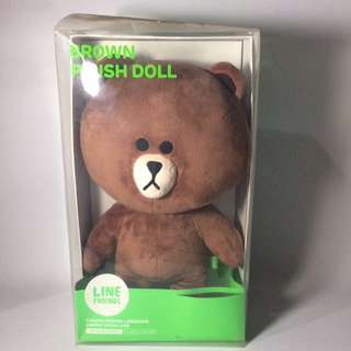LINE ORIGINAL BROWN PLUSH DOLL