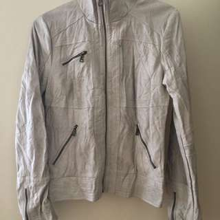 Guess cream/beige (faux) leather jacket