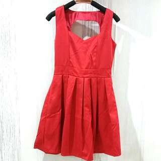 Red Cocktail Dress Size XS-S