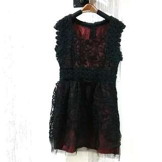 Black Red Lace Dress