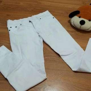 celana panjang white