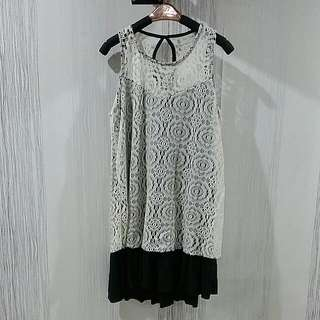 White Lace Dress Size XS-S