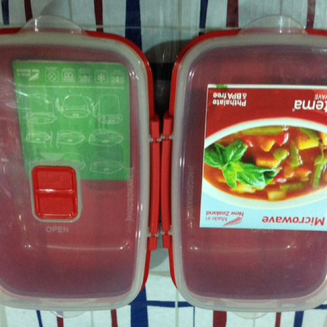 2x Sistema  Microwave 1.25L  Rectangular Container