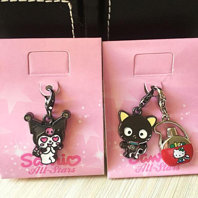 7-11 吊飾 Kitty 庫洛米 黑貓