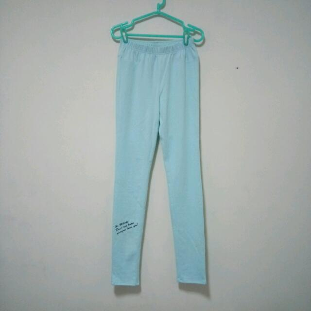 美樂蒂水藍色內搭褲