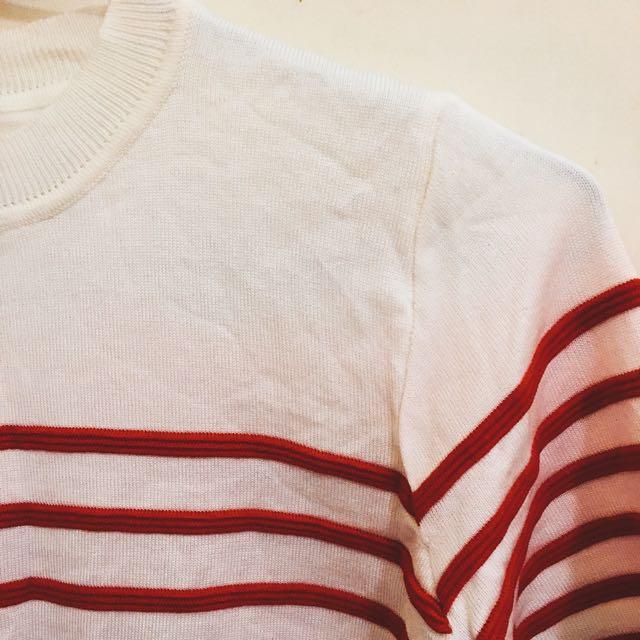 條紋針織上衣