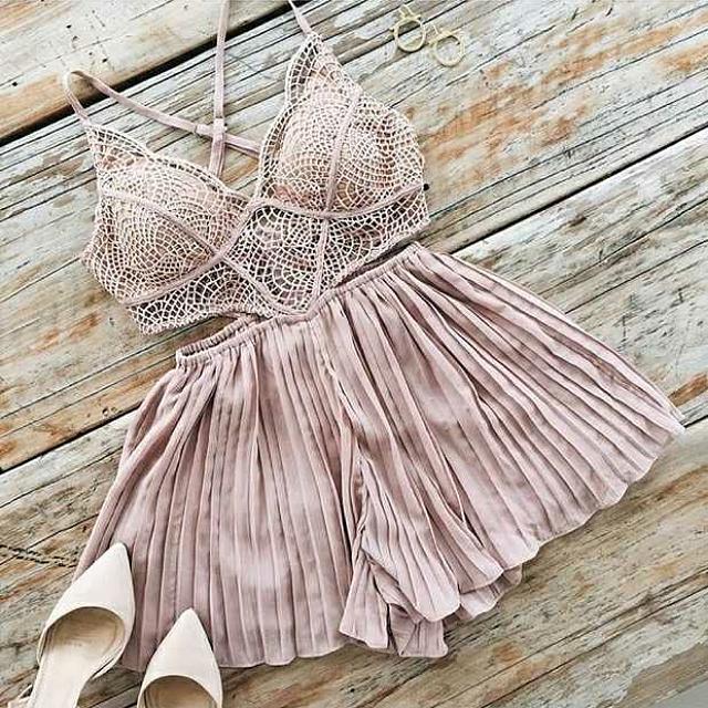 🔼全新  歐美蕾絲粉色洋裝(代售)