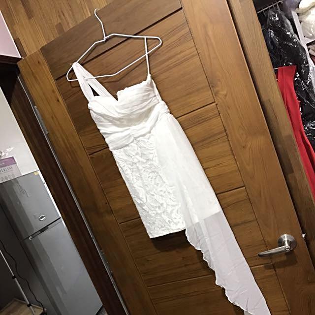 白紗婚紗 伴娘 白色洋裝 白色派對 蕾絲 飄裙