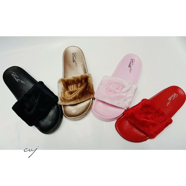 Adidas And Nike Fur Slippers 6b3fca888