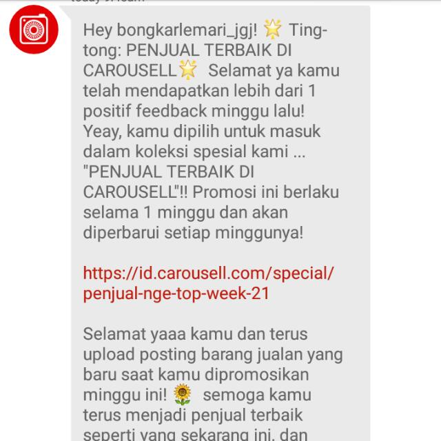 Alhamdulillah Thank You Carousell