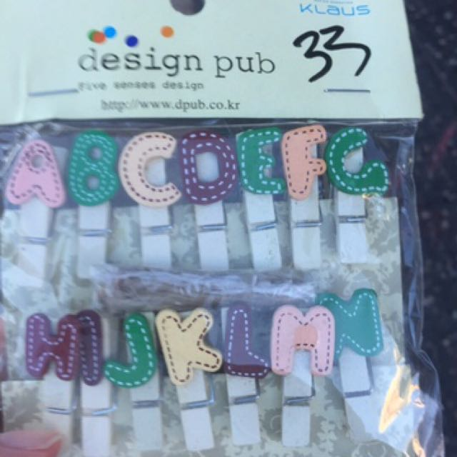 alphabet clips