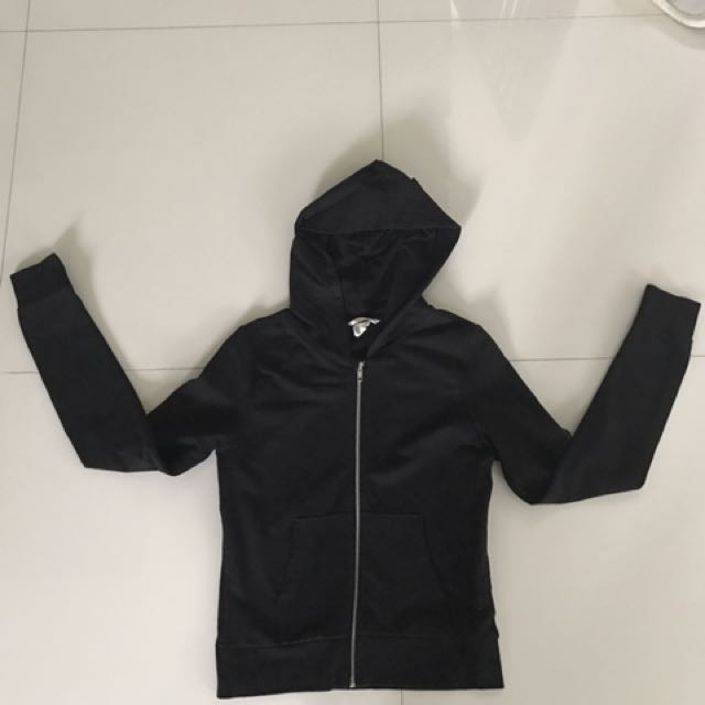 Authentic Black H&M Basic Hoodie