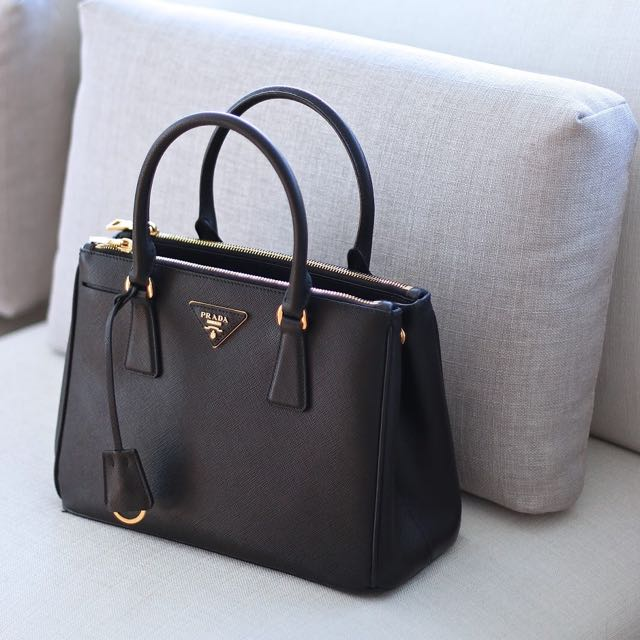 aac5b5dafef3 Authentic Prada Saffiano Double Zip Bag (Large Size)