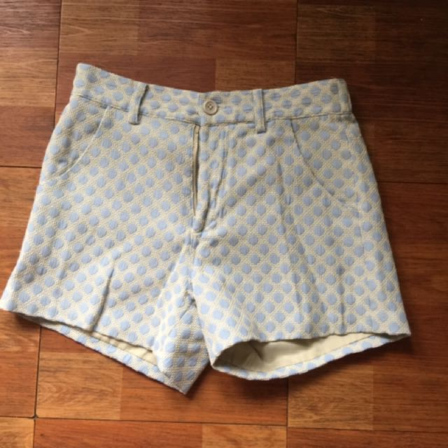 Baby Blue Polkadot Short Pants