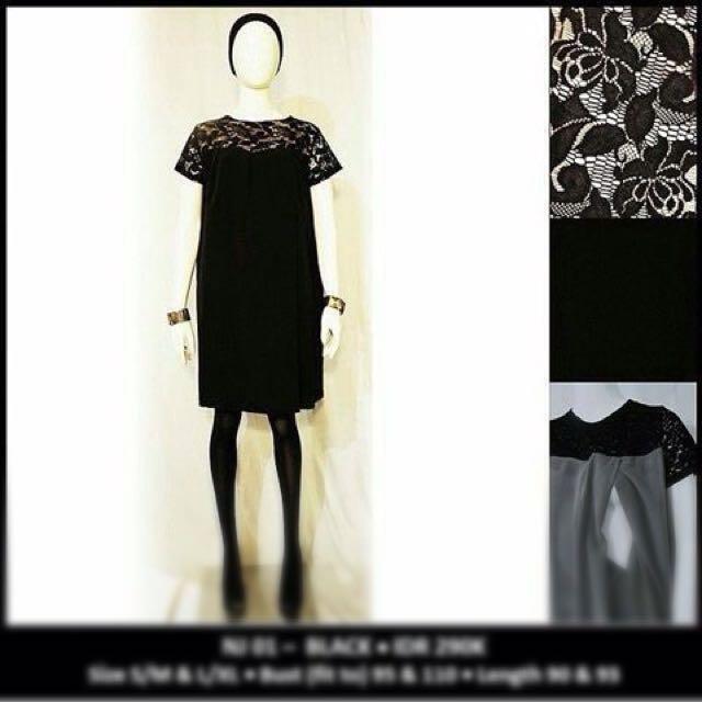 Baju Menyusui Black Dress