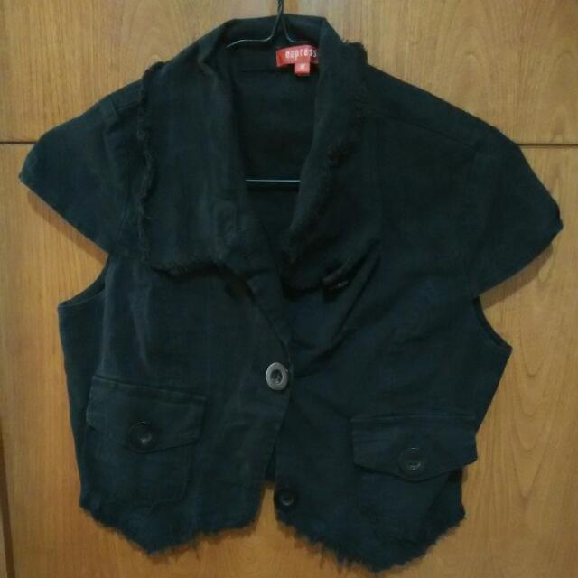 black cropped cardigan bolero