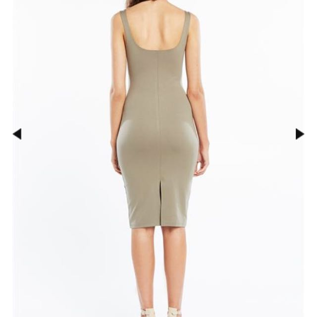 Bardot Khaki Midi Dress