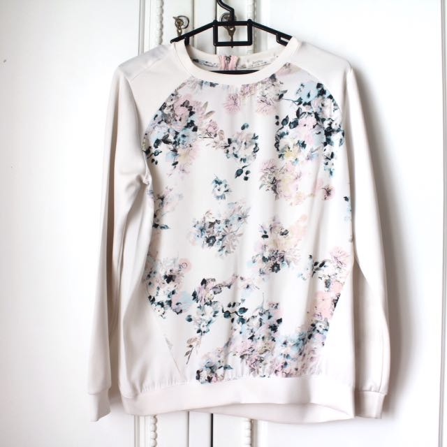 Bershka Floral Top