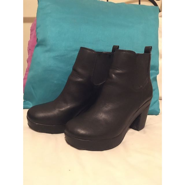 Black Ankle Boots 8