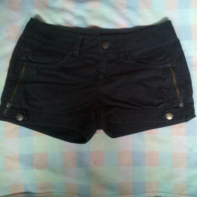 Repriced For 30php Black Denim Shorts