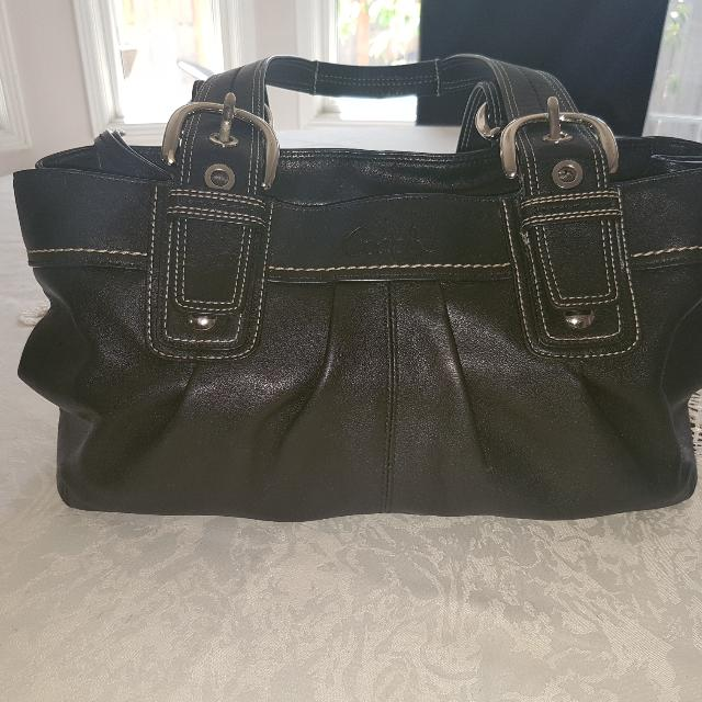 Black Leather Coach Bag Very Gently Used