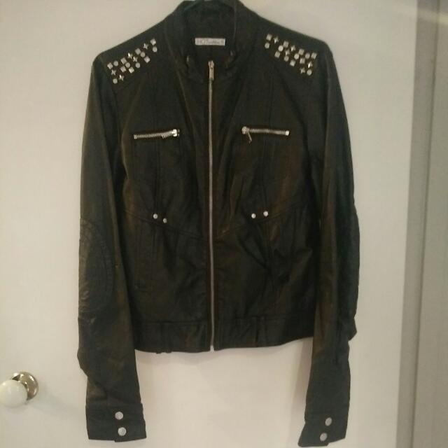 Black Leather-look Jacket