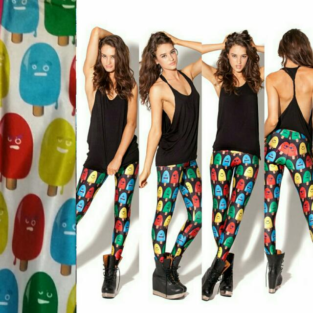 BLACK MILK CLOTHING POPSICLE WHITE LEGGINGS SIZE SMALL UNRELEASED SAMPLE PIECE