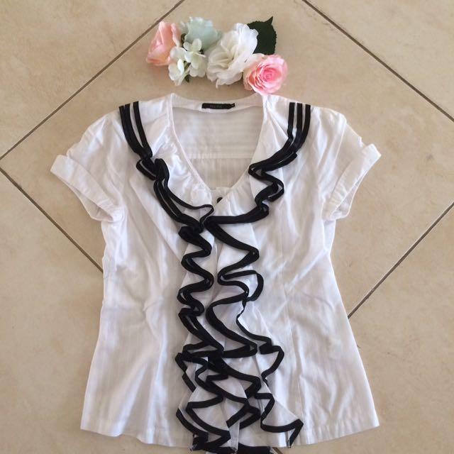 Black On White Shirt