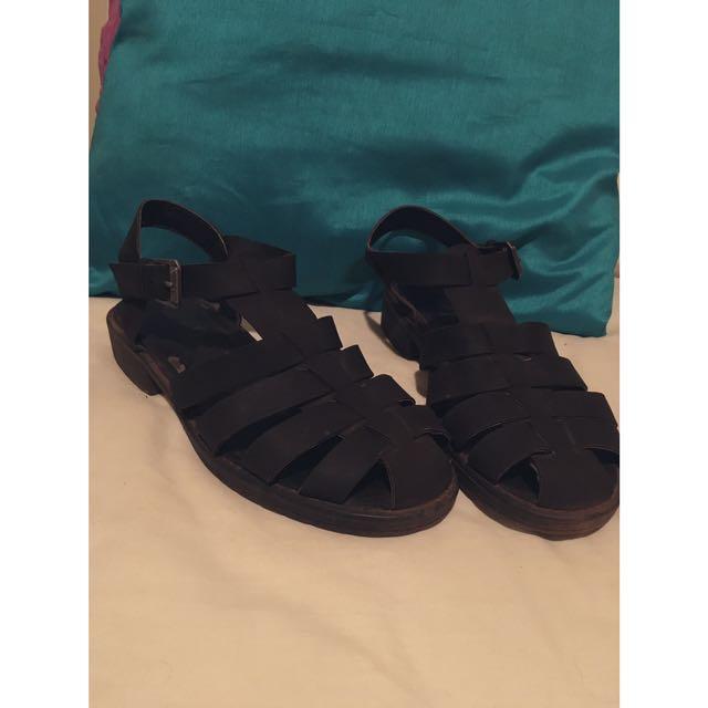 Black Sandals 8