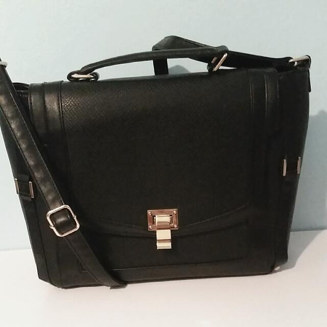 Black Satchel from Just Fab